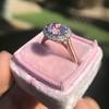 2.40ct Light Purple Sapphire Halo Ring 28