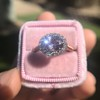 2.40ct Light Purple Sapphire Halo Ring 26