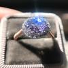 2.40ct Light Purple Sapphire Halo Ring 9