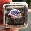 2.40ct Light Purple Sapphire Halo Ring 23