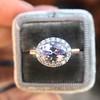 2.40ct Light Purple Sapphire Halo Ring 21