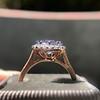 2.40ct Light Purple Sapphire Halo Ring 11