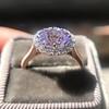 2.40ct Light Purple Sapphire Halo Ring 17