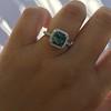 2.67ct Montana Sapphire Halo Ring 17