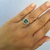 2.67ct Montana Sapphire Halo Ring 9