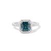 2.67ct Montana Sapphire Halo Ring 0