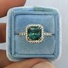 2.67ct Montana Sapphire Halo Ring 5