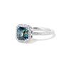 2.67ct Montana Sapphire Halo Ring 2