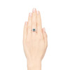 2.67ct Montana Sapphire Halo Ring 3