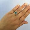 2.67ct Montana Sapphire Halo Ring 24