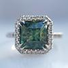 2.67ct Montana Sapphire Halo Ring 10