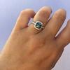 2.67ct Montana Sapphire Halo Ring 26