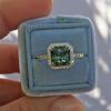 2.67ct Montana Sapphire Halo Ring 18