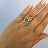 2.67ct Montana Sapphire Halo Ring 25