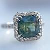 2.67ct Montana Sapphire Halo Ring 11