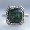 2.67ct Montana Sapphire Halo Ring 12
