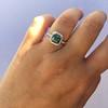 2.67ct Montana Sapphire Halo Ring 15