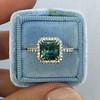 2.67ct Montana Sapphire Halo Ring 21