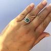 2.67ct Montana Sapphire Halo Ring 16