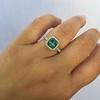 2.67ct Montana Sapphire Halo Ring 23