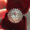 4.66ctw Old European Cut Diamond Halo Ring GIA L I1 18