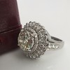 4.66ctw Old European Cut Diamond Halo Ring GIA L I1 6
