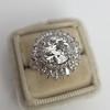 4.66ctw Old European Cut Diamond Halo Ring GIA L I1 19