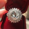 4.66ctw Old European Cut Diamond Halo Ring GIA L I1 22