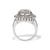 4.66ctw Old European Cut Diamond Halo Ring GIA L I1 3