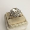 4.66ctw Old European Cut Diamond Halo Ring GIA L I1 9