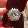 4.66ctw Old European Cut Diamond Halo Ring GIA L I1 15