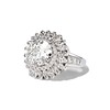 4.66ctw Old European Cut Diamond Halo Ring GIA L I1 1