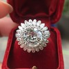 4.66ctw Old European Cut Diamond Halo Ring GIA L I1 12
