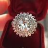 4.66ctw Old European Cut Diamond Halo Ring GIA L I1 5