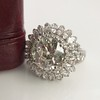 4.66ctw Old European Cut Diamond Halo Ring GIA L I1 23