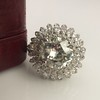 4.66ctw Old European Cut Diamond Halo Ring GIA L I1 24