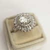 4.66ctw Old European Cut Diamond Halo Ring GIA L I1 8