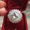 4.66ctw Old European Cut Diamond Halo Ring GIA L I1 13