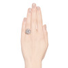 4.66ctw Old European Cut Diamond Halo Ring GIA L I1 2