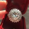 4.66ctw Old European Cut Diamond Halo Ring GIA L I1 16