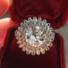 4.66ctw Old European Cut Diamond Halo Ring GIA L I1 4