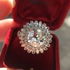 4.66ctw Old European Cut Diamond Halo Ring GIA L I1 21