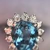 3.30ctw Aquamarine and Diamond Cluster Ring 31