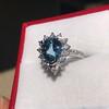 3.30ctw Aquamarine and Diamond Cluster Ring 2