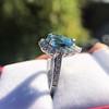 3.30ctw Aquamarine and Diamond Cluster Ring 26