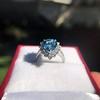 3.30ctw Aquamarine and Diamond Cluster Ring 18