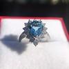 3.30ctw Aquamarine and Diamond Cluster Ring 21