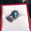 3.30ctw Aquamarine and Diamond Cluster Ring 5