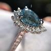 3.30ctw Aquamarine and Diamond Cluster Ring 34