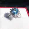 3.30ctw Aquamarine and Diamond Cluster Ring 17